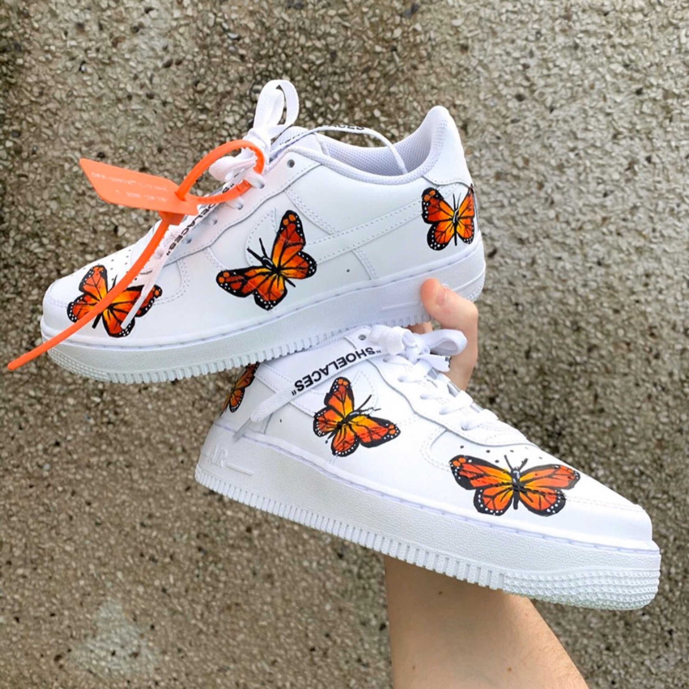 Nike Air Force 1 Custom Off White Butterfly Design