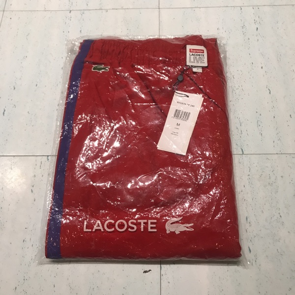 Supreme/Lacoste Track Pant Red Medium