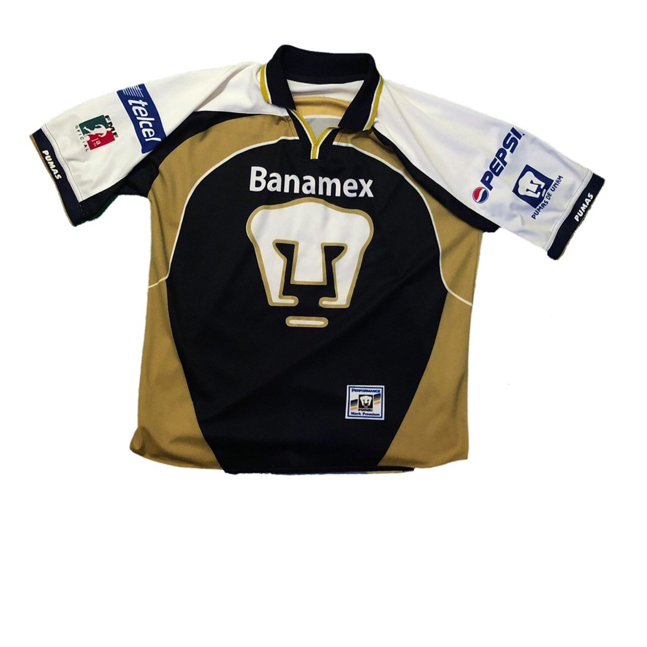 free shipping 4a248 64823 Vintage Banamex Pumas Soccer Jersey