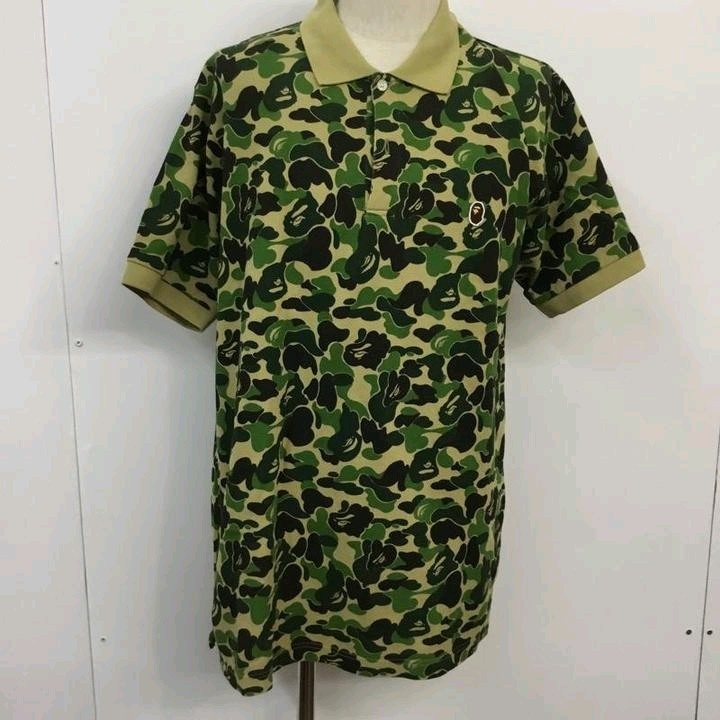 Bape Polo Multicolor Camouflage Pattern Short Sleeves