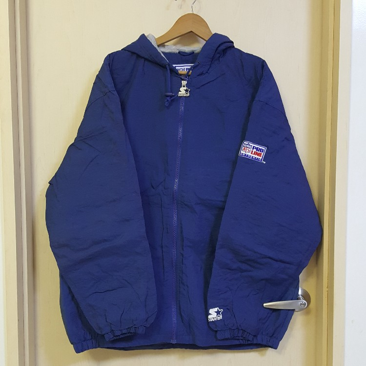 pretty nice 33275 d7f84 VTG Authentic Pro Line STARTER Dallas Cowboys Hoodie Insulated Windbreaker  Jacket OG-XL
