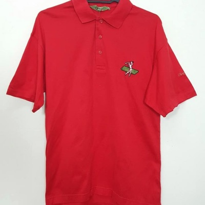 Vintage Kenzo Golf All Red Polo Shirt