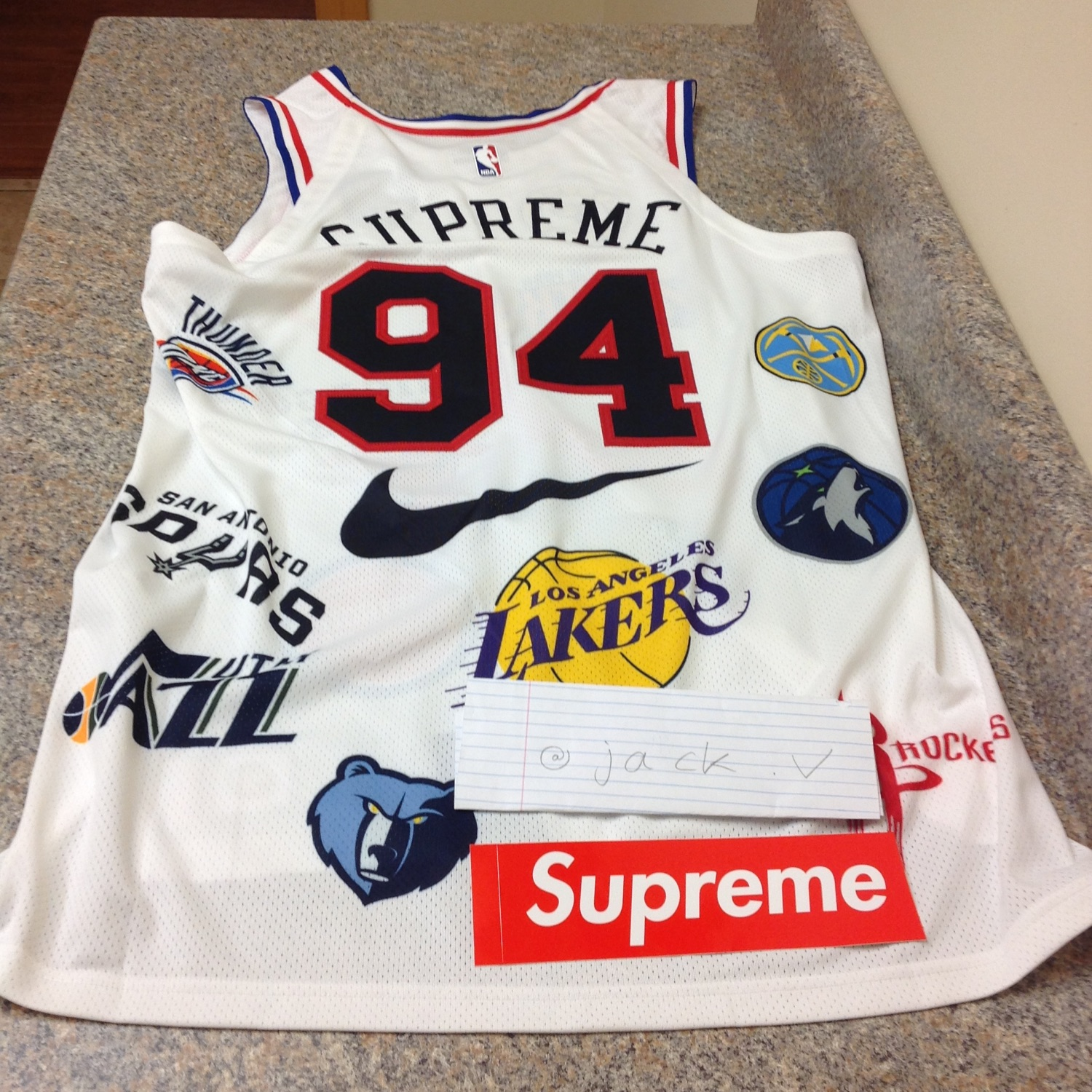 new style 70660 0d15f Supreme/Nike/Nba Teams Authentic Jersey