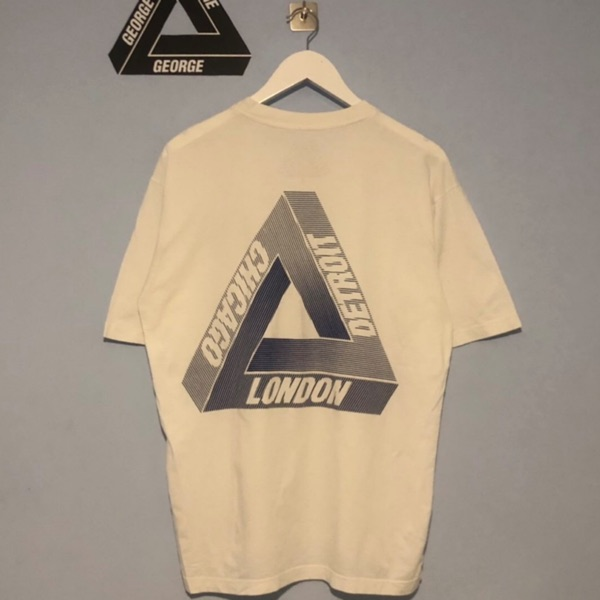 Palace Chicago Detroit London Wax Label Tee