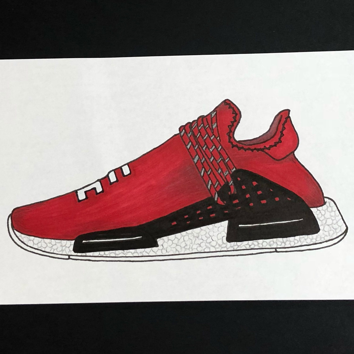 hot sale online 658d1 6c3e7 Adidas Pharrell Williams Human Race Nmd Boost Red