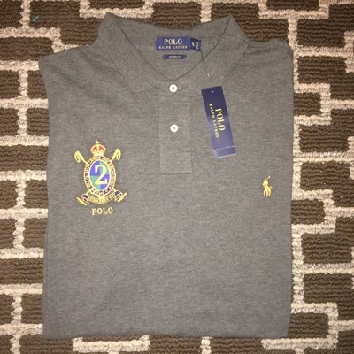 Ralph Lauren Classic 2 Dark Grey Polo Shirt