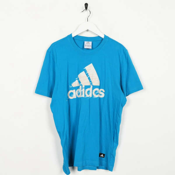 Vintage ADIDAS Big Logo T Shirt Tee Blue | Medium M