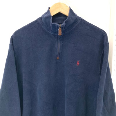 Ralph Lauren Navy Half Zip Jumper