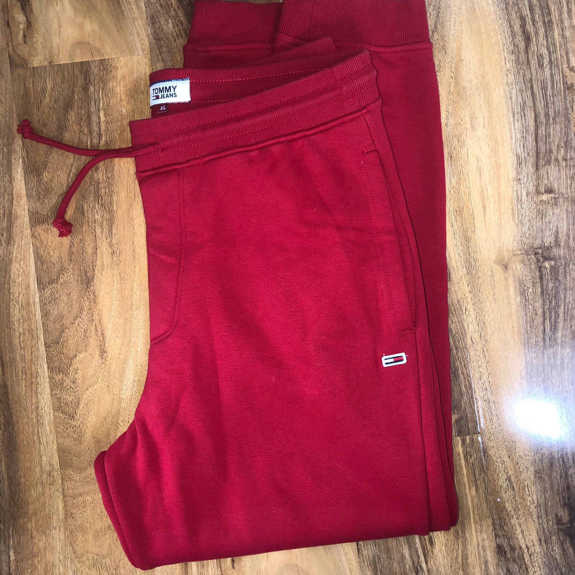 Tommy Jeans Xl Red Tracksuit Bottoms