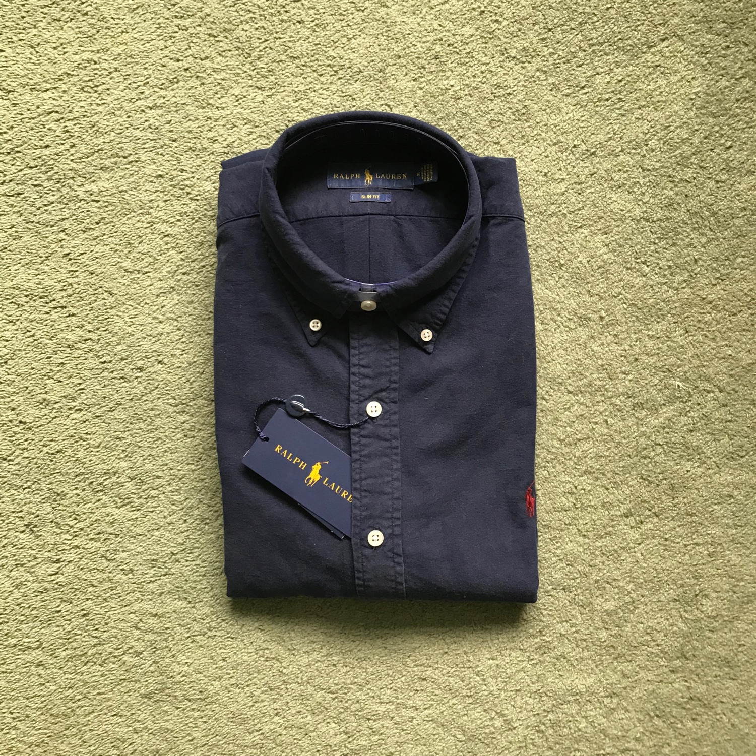 ced8a524889 Yellow Ralph Lauren Shirt Slim Fit - Nils Stucki Kieferorthopäde