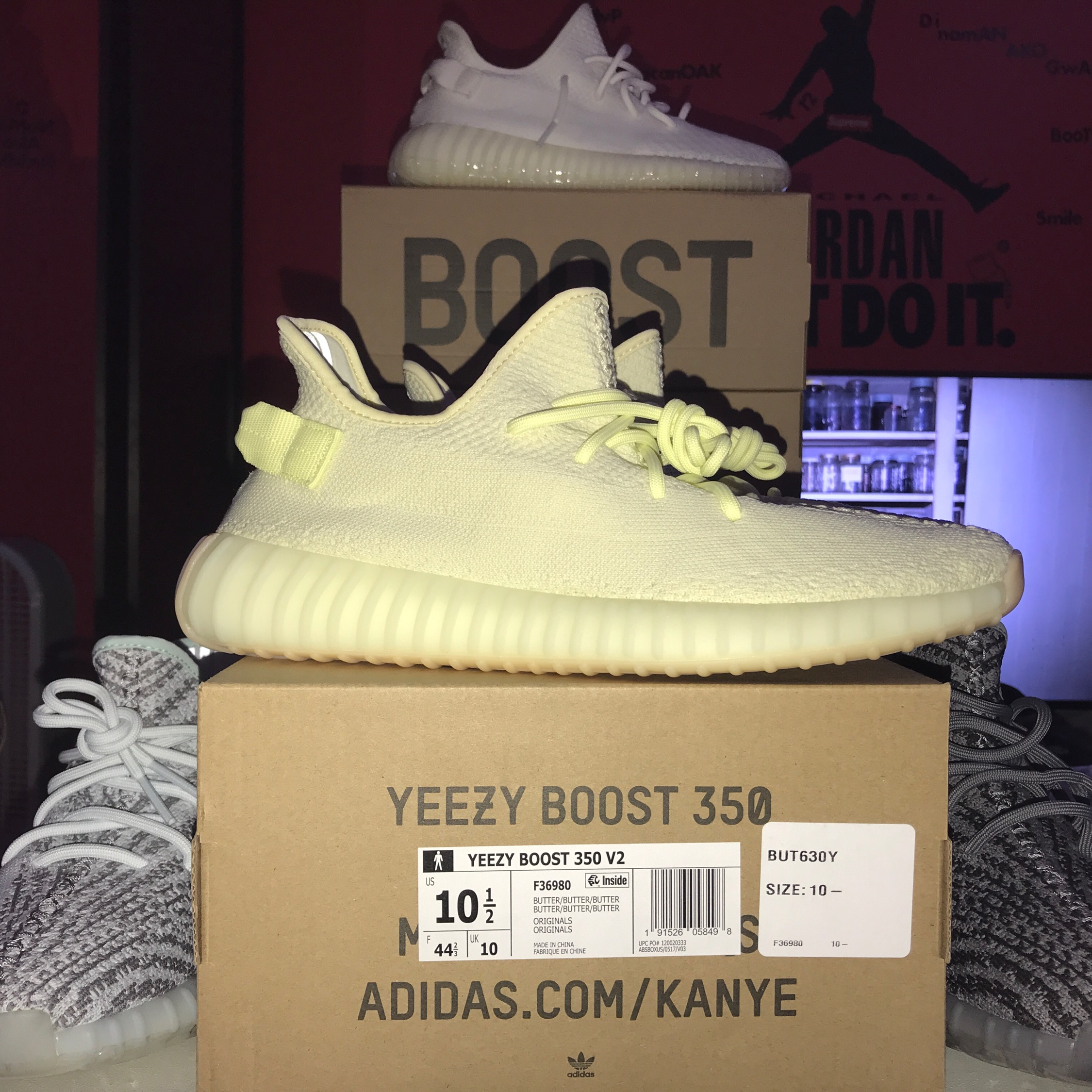 Yeezy Boost 350 V2 Cream White/Butter Bundle