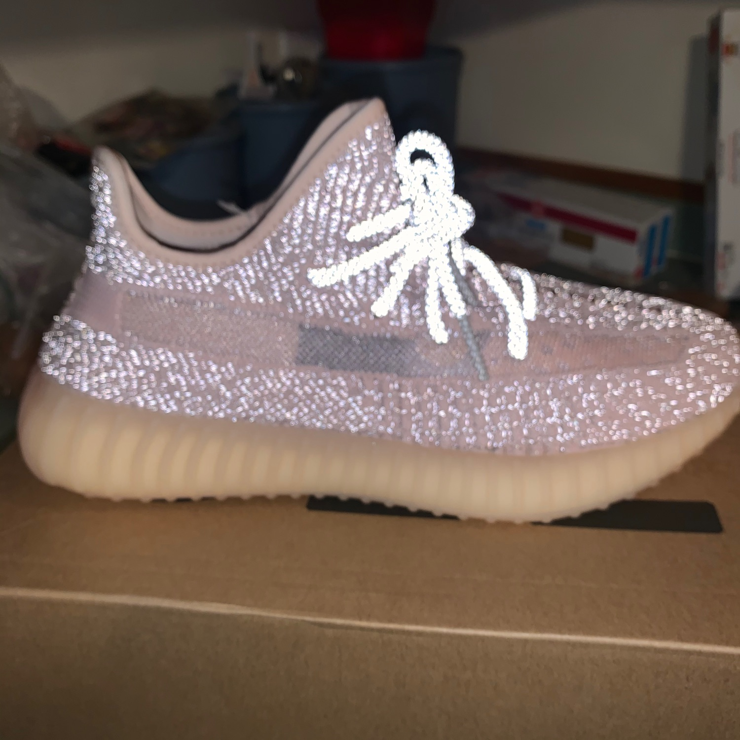 synth yeezy reflective
