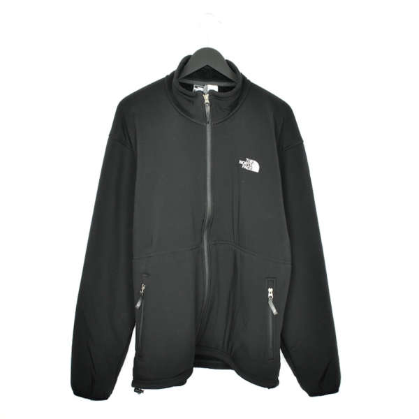 Vintage North Face windbreaker fleece track jacket bomber jacket in black