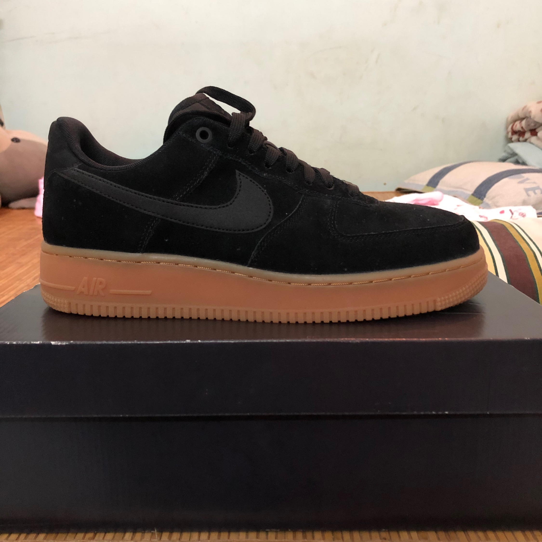 semiconductor Alienación ligado  Nike Air Force 1 Black Gum