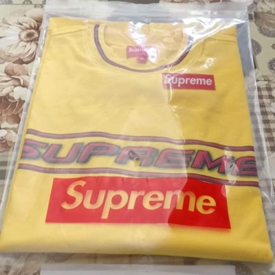 Supreme Bevel L/S Top Yellow Size M