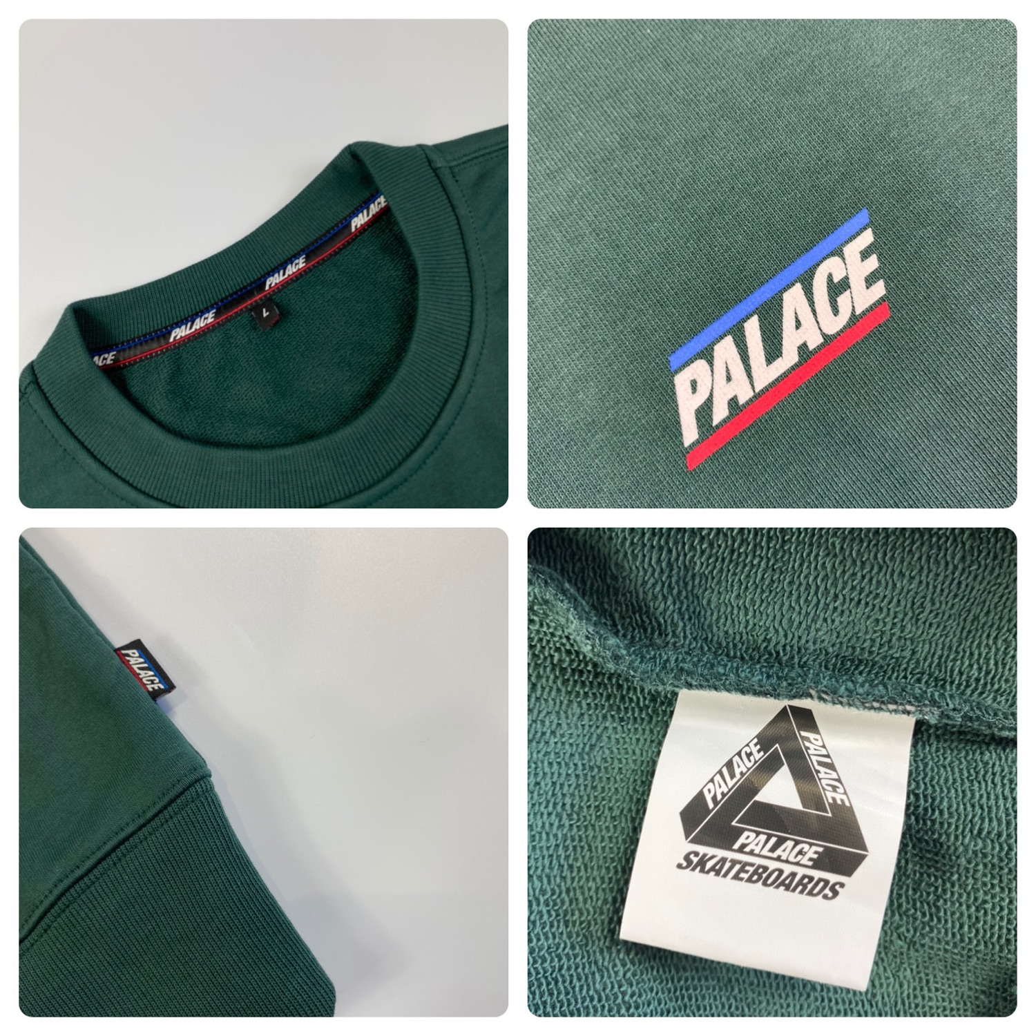 Palace Basically A Crew Forest Green