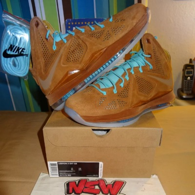 Nike Lebron X Ext Qs Brown Suede