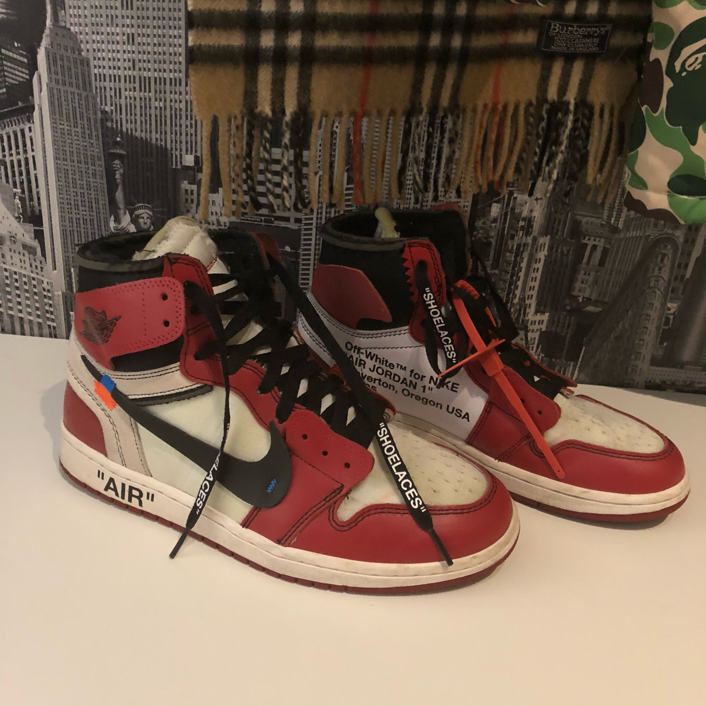 save off e45f7 c492a Nike Air Jordan 1 X Off White The Ten Uk 8 Us 9
