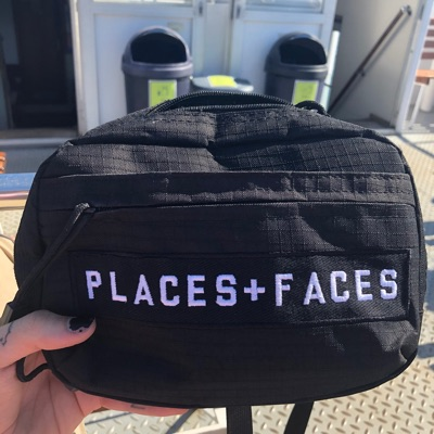 Places + Faces Black Sling Bag