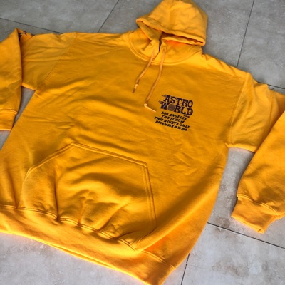 Travis Scott Astroworld Tour La Gold Hoodie Xxl