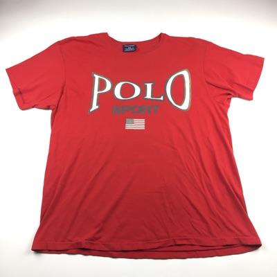 Vintage Polo Sport Big Print Spell Out T-Shirt