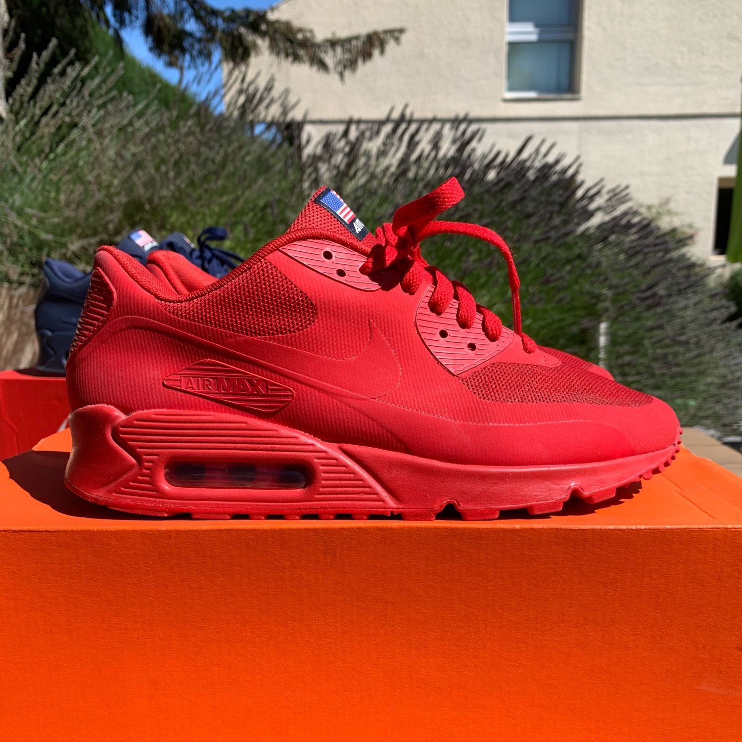 Útil rueda Catedral  Nike Air Max 90 Hyperfuse Qs Independence Day Red