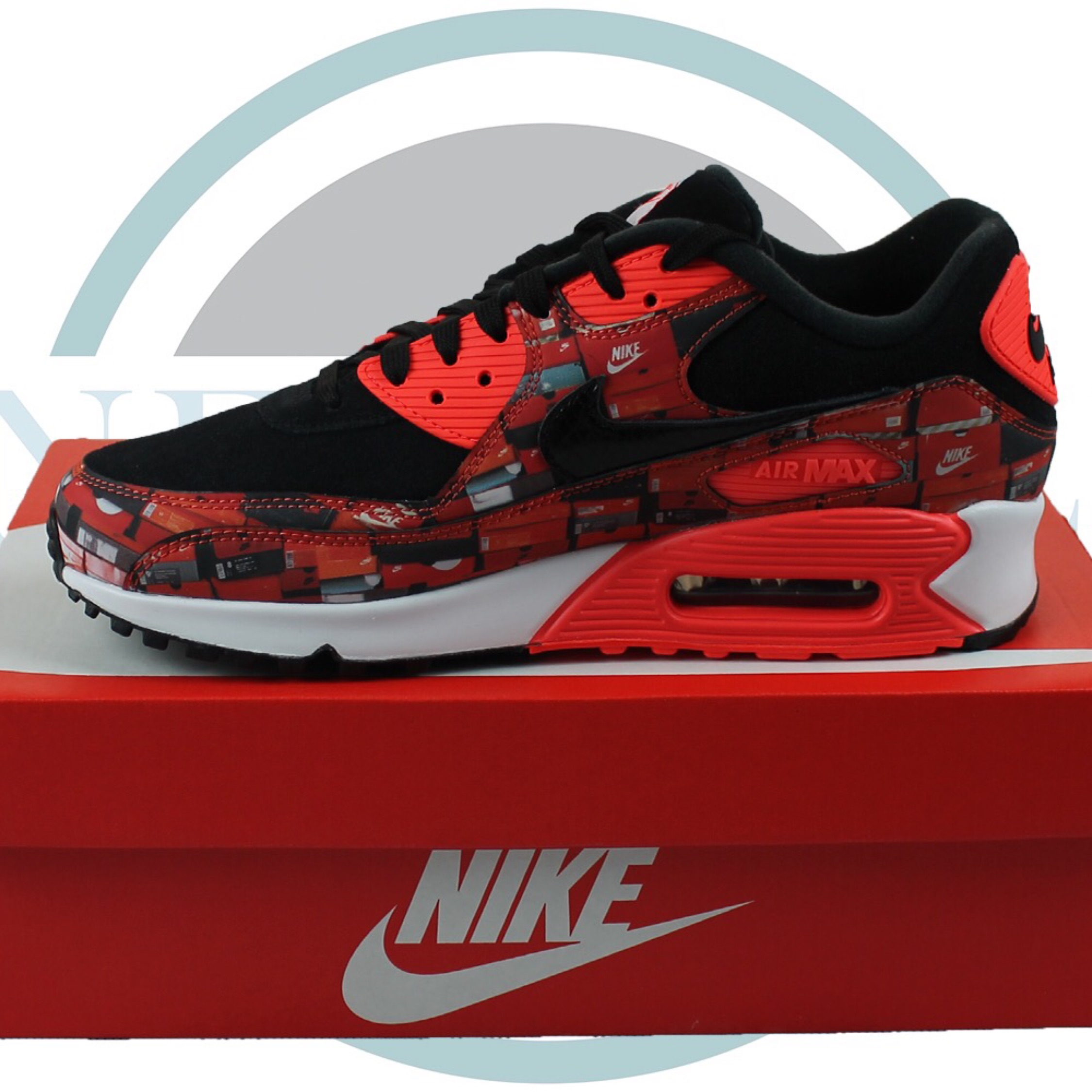 ad1c39c2e3 Nike Air Max 90 Atmos We Love Nike Bright Crimson