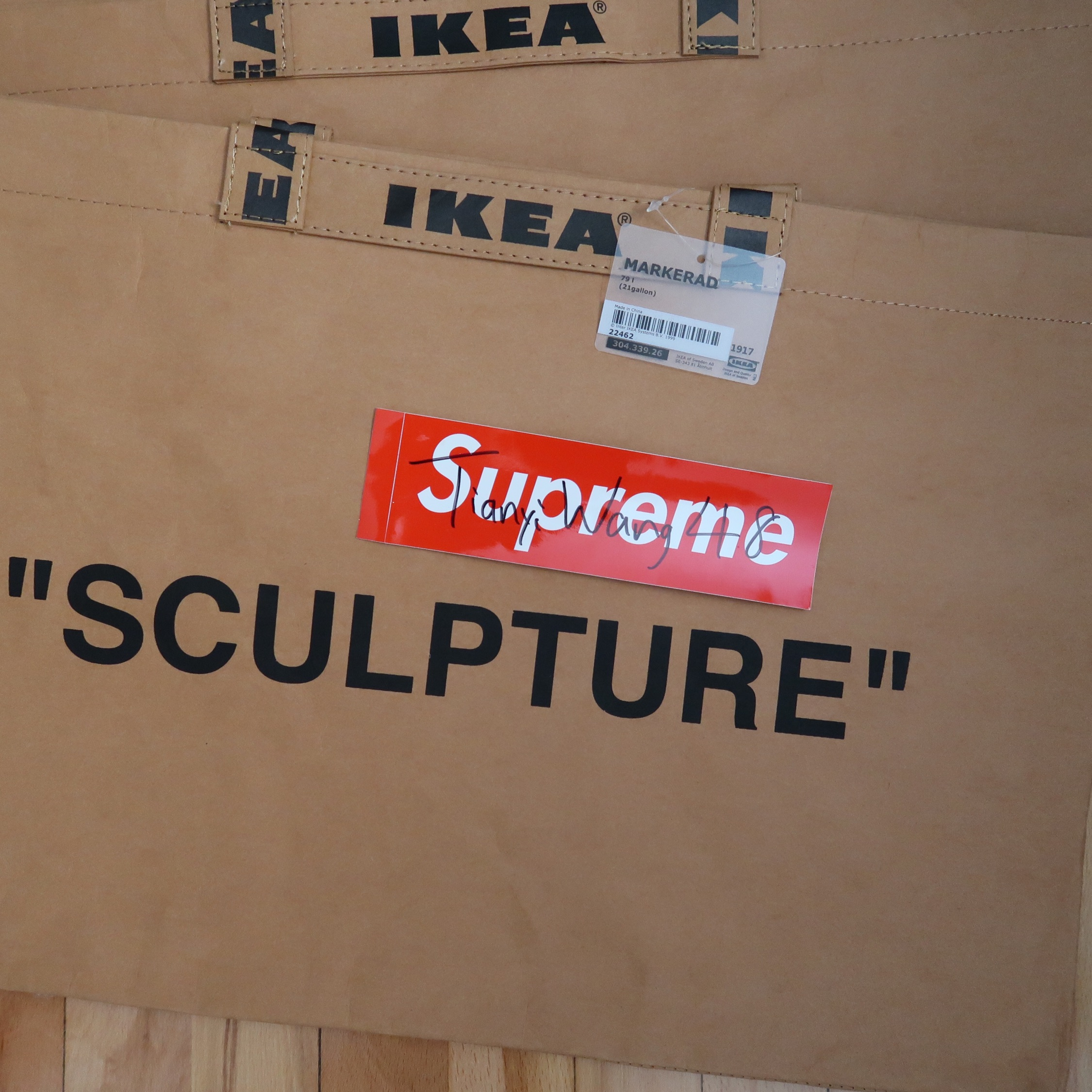 Ikea X Off-White Markerad Large Shopping Bag