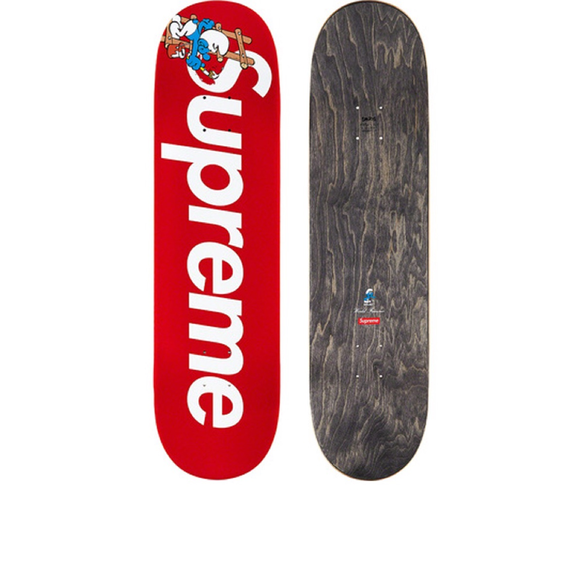 Supreme Smurfs Skateboard Red