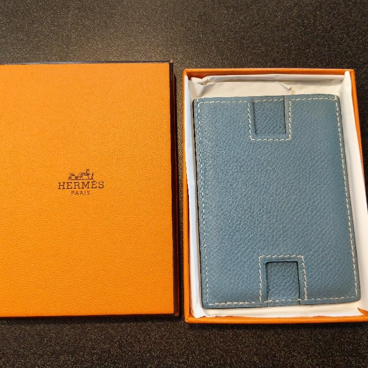 Hermes H Logo Card Holder