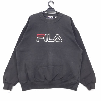 Vintage 90S Fila Sweatshirt Big Embroidery Logo
