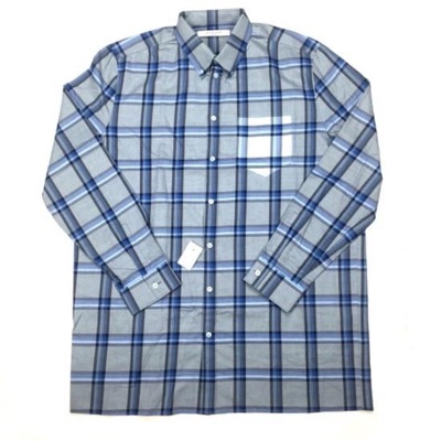 Givenchy Light Blue Plaid Cuban Flannel Shirt Nwt