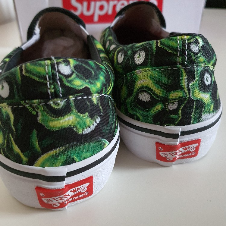 SS18 Supreme x Vans Skull Pile Slip-On Pro💀 US 8.5 UK 7.5 EU 41