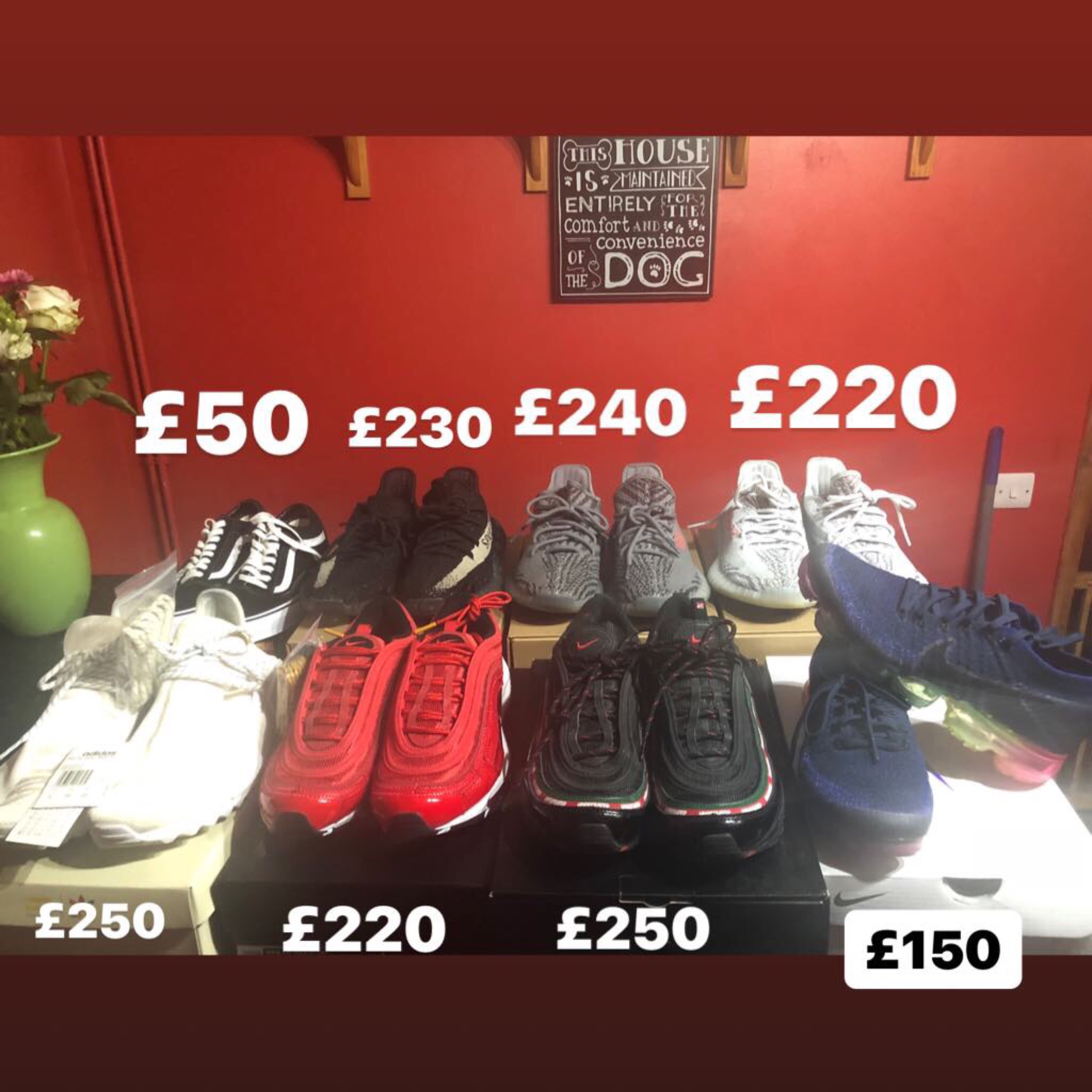 separation shoes ef508 71f9f Human Race,Yeezy,Air Max 97 Undefeated, Vapormax..