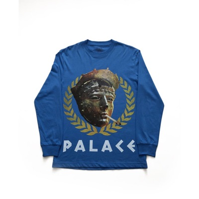 Palace Peaser Ls Tee Blue Size Small