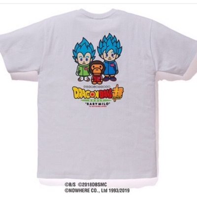 Bape X Dragonball Super Son Goku And Vegeta Tee