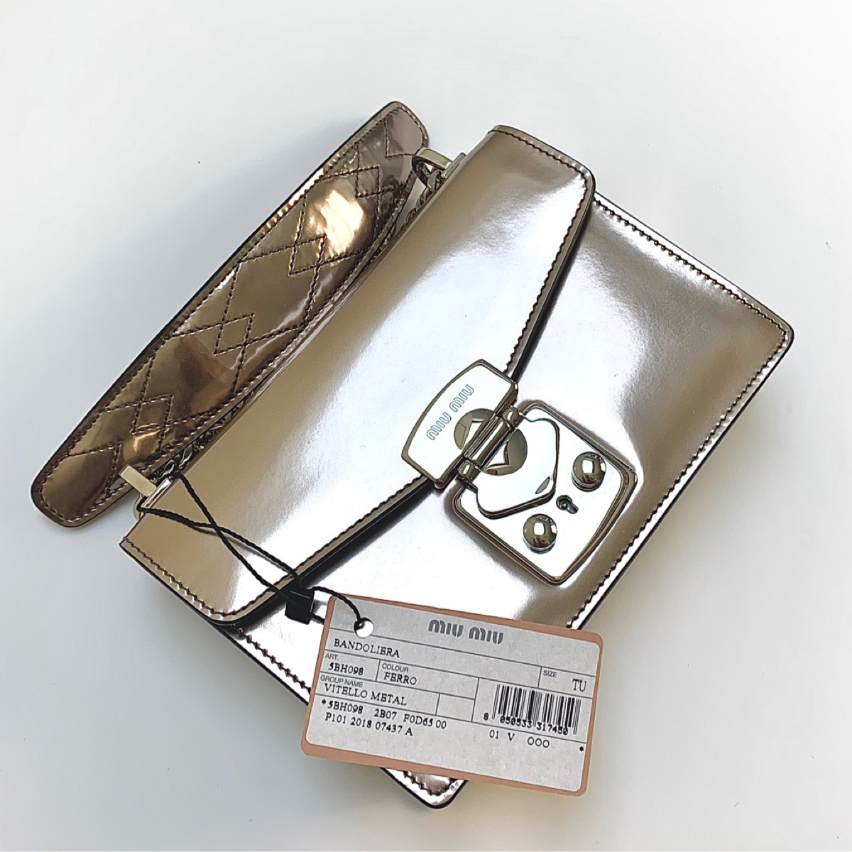 Miu Miu Metallic Brand New Handbag