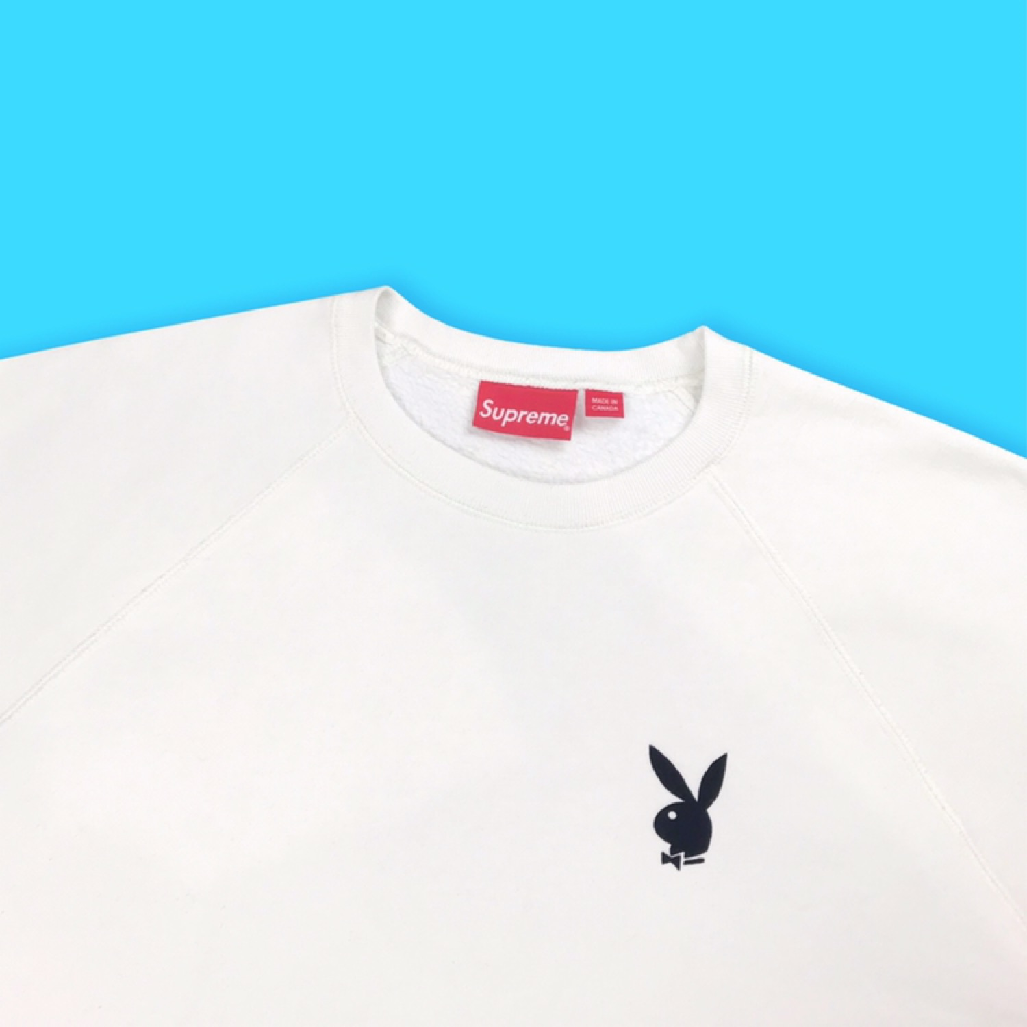 Supreme X Playboy Short Sleeved Crew White Ss16