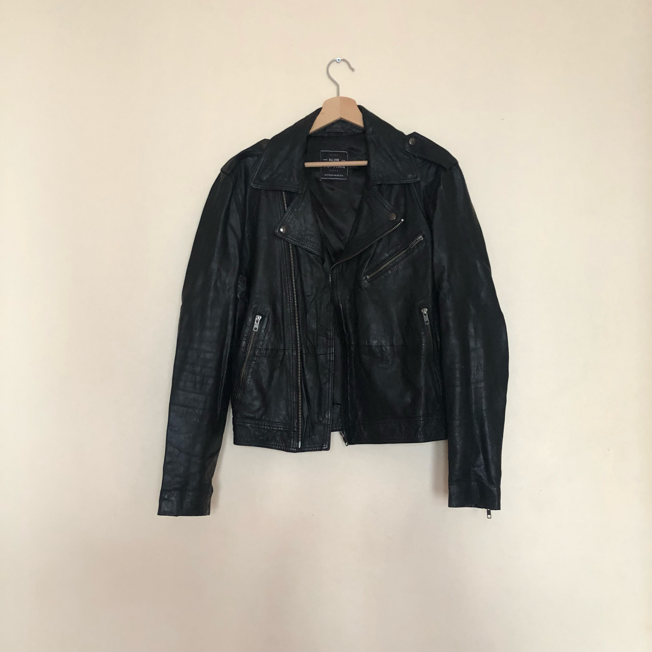 5a1603aca Topman - Real Leather Jacket