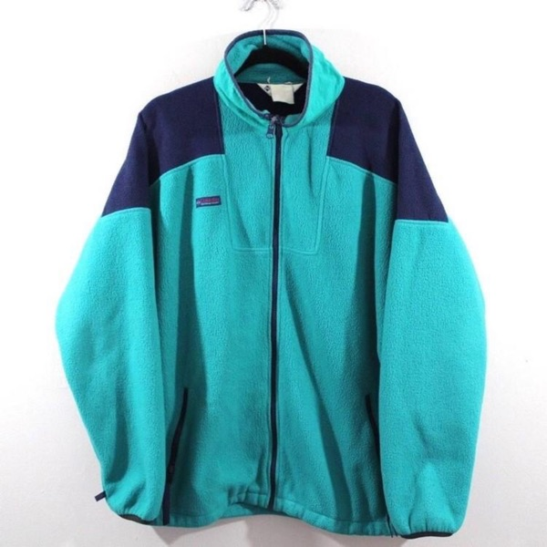 Vintage Columbia Spellout Fleece Jacket
