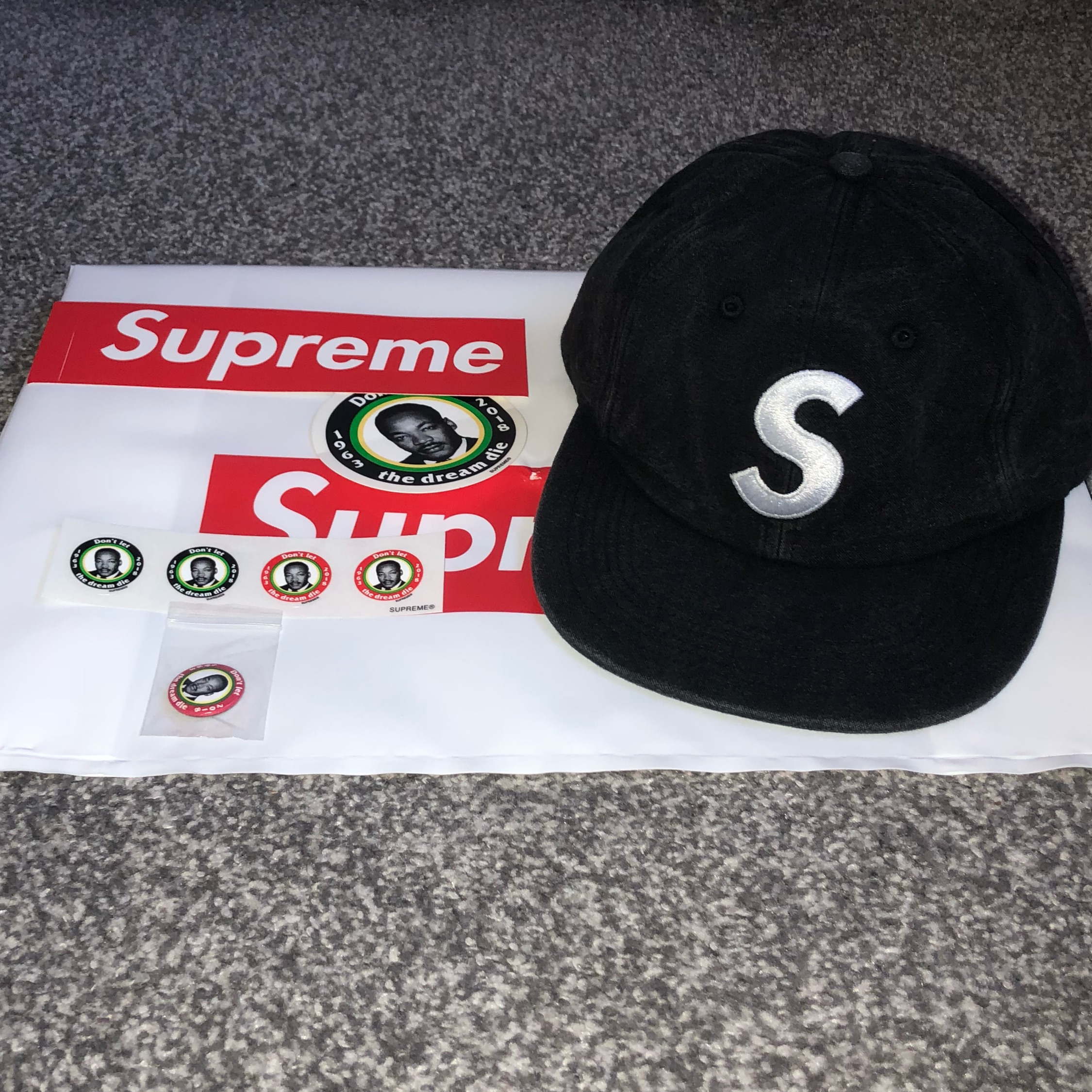 358be858caf Supreme S Logo Cap Ss18