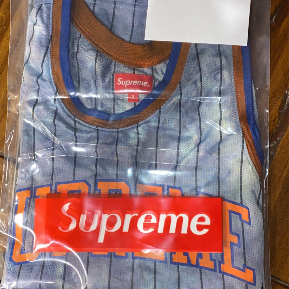 Supreme Dyed Basketball Jersey Light Grey