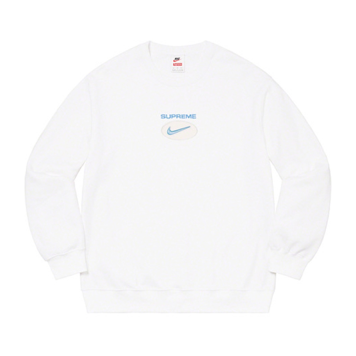 Supreme Nike Jewel Crewneck White