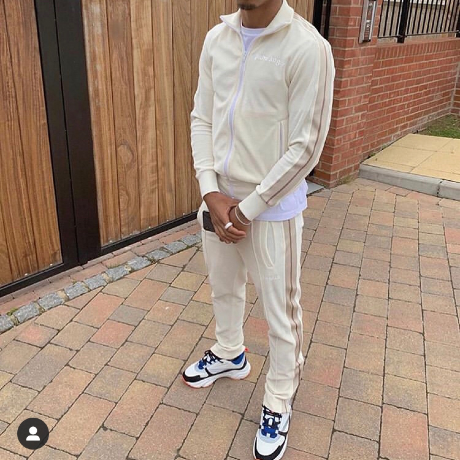 Palm Angels Tracksuit Chenille Off White