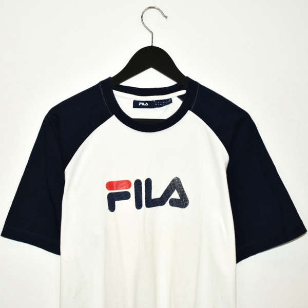 Vintage Fila t-shirt top blouse tee in white and blue