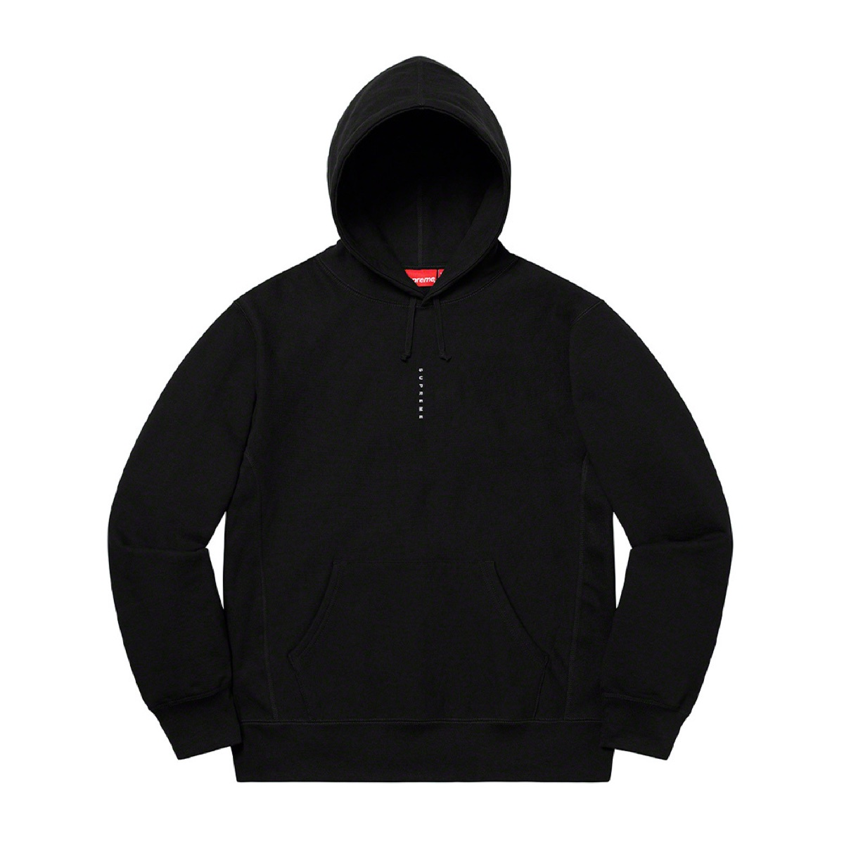Supreme Micro Logo Hooded Sweatshirt Black
