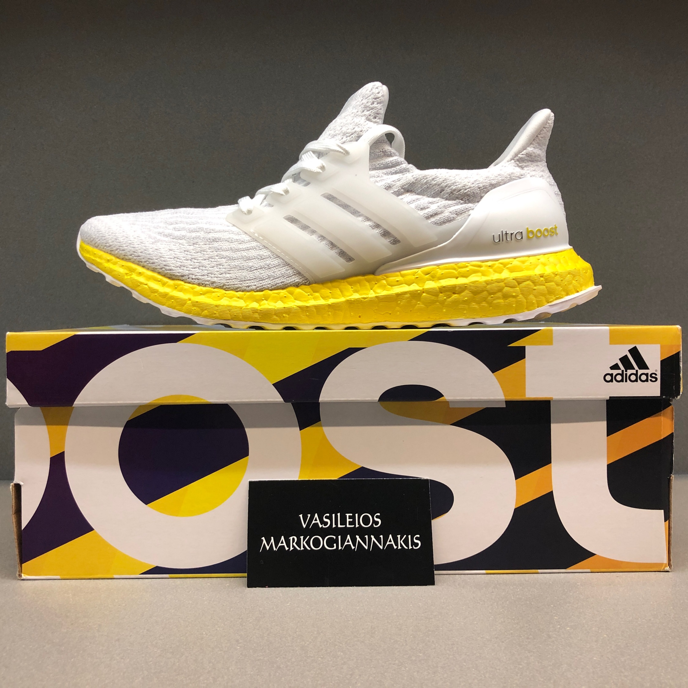 new arrival d9432 a9a60 Adidas Ultra Boost 3.0 Triple White Custom