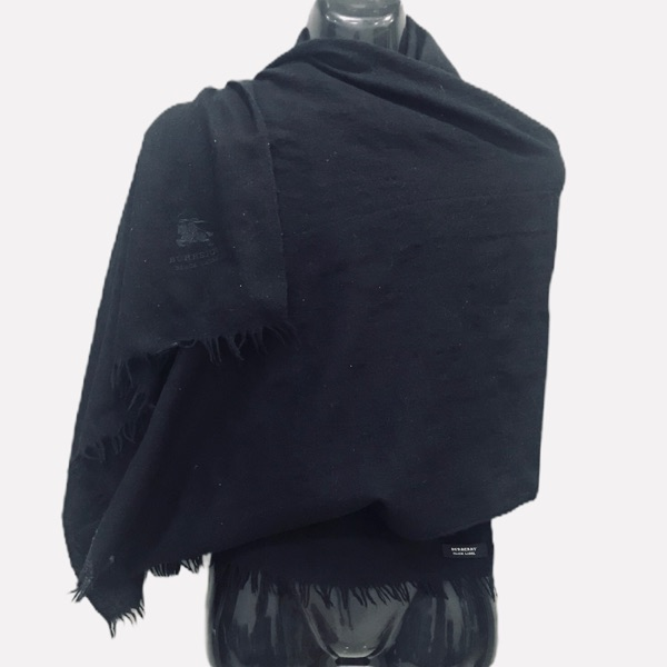 Burberrys Black Label Muffler Wrap Scarf