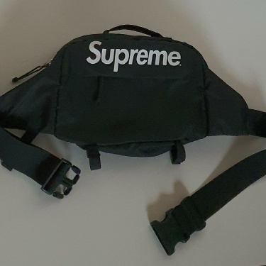 SS16 Supreme Black shoulder waist bag Cordura Fabric
