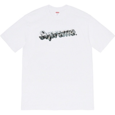 Supreme Chrome Logo L/S Top White